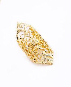 Gold Plated Finger Ring R-1220-G