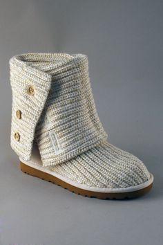 Grey wool UGG boots