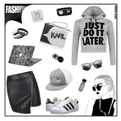 """""""JUST DO IT LATER"""" by noa005 ❤ liked on Polyvore featuring WearAll, Vans, adidas Originals, Parisian, Happy Plugs, Bobbi Brown Cosmetics, women's clothing, women's fashion, women and female"""