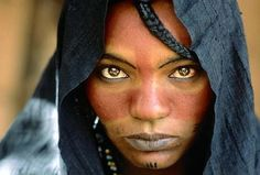 Africa |  Portrait of a Tuareg woman | © National Geographic ~ Photographer ?