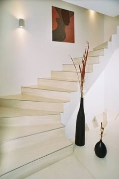 panDOMO polished cement on stairs.
