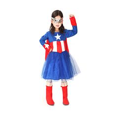 """Kids Halloween Costumes Captain America Cosplay Fit Height 51.2""""- 55"""""""
