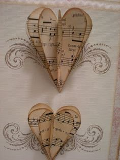 Midnite Lullabies Studio: love has wings. World Music Day, Old Sheet Music, Pin Card, Genuine Love, Up Music, Stamping Up, Rubber Stamping, Heart Crafts, Stuff And Thangs