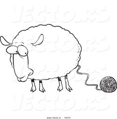 Sheep Outline Drawing Coloring Page - sheep cartoon images ...