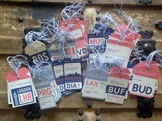 Vintage Luggage Tag Travel Escort Cards by AnthologiePress on Etsy