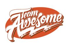 Team Awesome: From Hand-Lettered Logotype to Vector in Adobe Illustrator