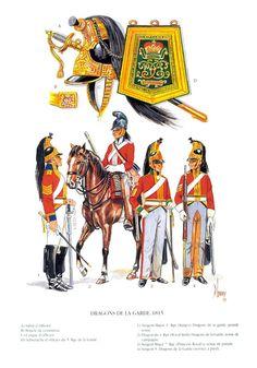 British Army Uniform, British Uniforms, British Soldier, Military Insignia, Napoleonic Wars, Dragons, American Civil War, Empire, Waterloo 1815