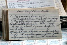 A classic vintage recipe from the files - Corn Beef Cheese Balls