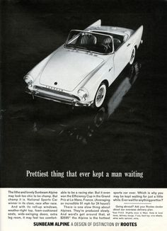 The Alpine - Prettiest thing that ever kept a man waiting. 1960's Ad   Picture Window Layout.