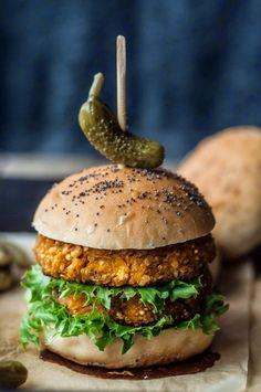Cozinha Fresh... hamburguer de abobora com quinoa
