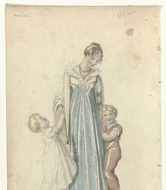 Ackermann's Repository of Arts, 1 september 1810, Plate 17, Vol. 4, No. 21: Full Dress., anonymous, 1810 - Rijksmuseum