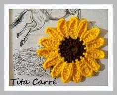 Tita Carré - Agulha e Tricot : Flor Girassol em crochet e as Crônicas de Nárnia de C.S. Lewis