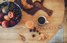 Breakfast with coffee and croissant. Picture by Emily Dahl.