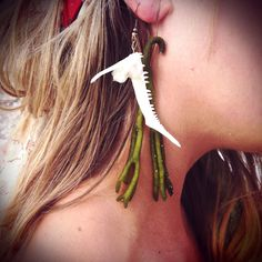 Fishbone and Seaweed earrings