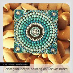 Saltwater Water Art Dot Painting Aboriginal Art by RaechelSaunders, $20.00