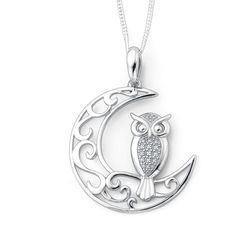 Silver art deco owl pendant owl pendant art deco and urban outfitters mozeypictures Image collections
