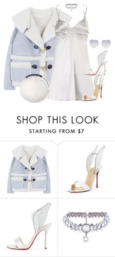 """Frozen"" by slaynia ❤ liked on Polyvore featuring Christian Louboutin, Jimmy Choo and Almost Famous"