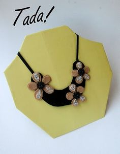 A Necklace Stand - from 'blah to TADA' blog (made with cardboard)