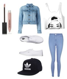 """""""Untitled #3"""" by dianapinta on Polyvore featuring New Look, Yves Saint Laurent, Vans, Burberry, adidas, men's fashion and menswear"""