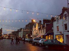Christmas lights in St. Andrews