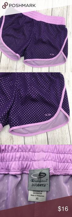 """*FREE with $15+ purchase! Comment on this listing if you are choosing for free with purchase of $15 or more! Trying to CLEAR OUT! ENJOY 🌻.       Purple mesh athletic shorts. Champion brand from Target.  Rise: 8.5"""" Inseam: 3""""  SKU - C-01 Champion Shorts"""