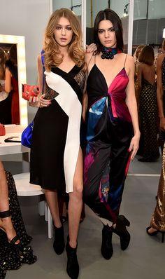 Gigi Hadid and Kendall Jenner in Diane von Fustenberg #fallwinter #2016