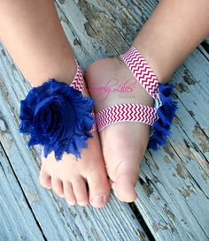 20%OFF .. Baby Barefoot Sandals .. Red, White and Blue .. Toddler Sandals .. Newborn Sandals