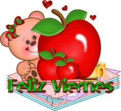 El Rincon de mis Imagenes: Feliz Viernes-Osita con manzana