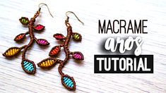 Aros con ramas ♥︎ macrame tutorial | como hacer | diy ● Earrings #choker #gargantilla #collar #pulsera #bracelet #friendshipbracelet #bracelets #macrame #hiloencerado #colores #artesania #artesana #diy #doityourself #comosehace #comohago #hazlotumismo #tutorial #tutoriales #manualidades #manualidad #temuco #chile #youtuber #facil #easy #quick #rapido #gift #idea #comohacer #aros #earrings #howto #hippie #chic