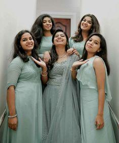 Indian Bridesmaid Dresses, Bridesmaid Saree, Wedding Dresses For Girls, Indian Wedding Outfits, Bridal Dresses, Wedding Gowns, Christian Wedding Sarees, Christian Bride, Christian Weddings