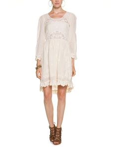 83cc0d1ffb262 Free People Montana French Vanilla Embroidered Dress is on Rue. Shop it  now. Sunday