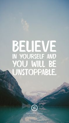 Believe in yourself and you will be unstoppable. Wallpaper Iphone Frases, Hd Wallpaper Quotes, Inspirational Quotes Wallpapers, Motivational Quotes Wallpaper, Desktop Wallpapers, Wallpaper Ideas, Motivacional Quotes, Words Quotes, Best Quotes