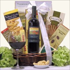 Gift Basket Villas - 'Grazie' Banfi Col di Sasso Toscana, $62.99 (http://www.giftbasketvillas.com/grazie-banfi-col-di-sasso-toscana/)