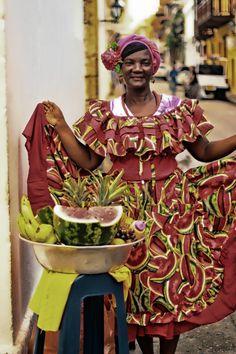 Así se venden las frutas en Cartagena de Indias. Colombia.