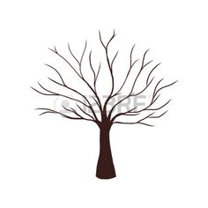 Find bare tree silhouette stock images in HD and millions of other royalty-free stock photos, illustrations and vectors in the Shutterstock collection. Thousands of new, high-quality pictures added every day. Tree Drawing Simple, Simple Tree, Leaf Drawing, Leaf Coloring Page, Easy Coloring Pages, Tree Illustration, Illustration Sketches, Tree Outline, Tree Stencil