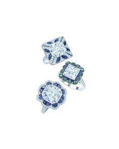 Tiffany Diamond and Gemstone Rings