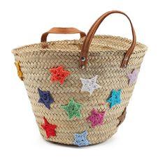 Customizar una cesta de mimbre con estrellas de lana | costurea.es/blog/