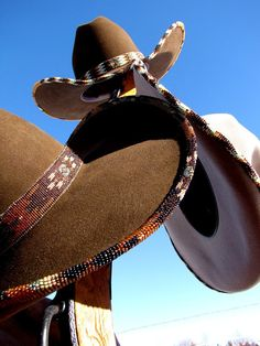 Hand-beaded cowgirl hats