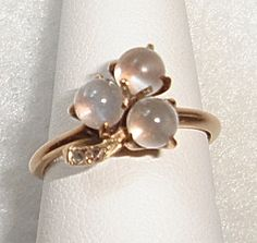 14K Victorian Moonstone Diamond Ring by JewelsAndAllThatJazz, via Flickr