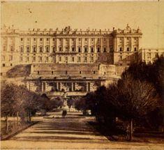 Hacia 1860. Palacio desde el Campo del Moro. Laurent. Museo de Historia. | Flickr: Intercambio de fotos
