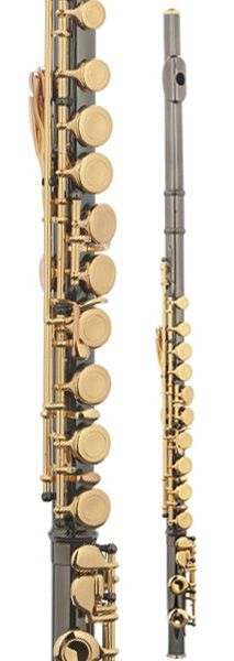 Black and gold flute, this is gorgous!