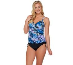 DreamShaper by Miraclesuit Skirted Tankini Set Longer Top size  14