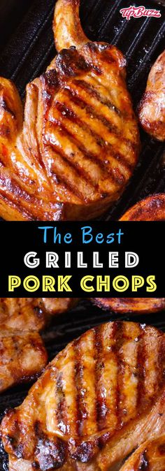 Grilled Pork Chops are tender and moist marinated pork chops.- Grilled Pork Chops are tender and moist marinated pork chops grilled to golden perfection. Cook on a hot barbecue for a fast meal ready in under 30 minutes. Easy Pork Chop Recipes, Grilling Recipes, Pork Recipes, Cooking Recipes, Recipe For Moist Pork Chops, Marinate For Pork Chops, Recipe For Pork, Pork Chops On Grill, Grilling