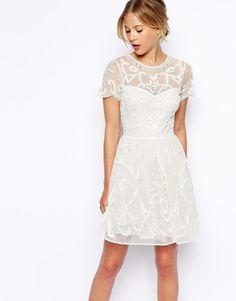 ASOS | ASOS Pretty Gothic Embellished Skater Dress at ASOS