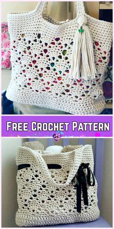 Crochet Vintage Market Tote Bag Free Crochet Pattern