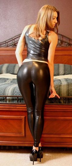 Leather leggings hell yes