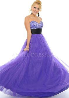 Ball Gown Sweetheart Tulle Sleeveless Floor Length Zipper up Prom Dress