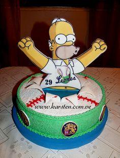 Torta de Homero Simpson... Leones del Caracas