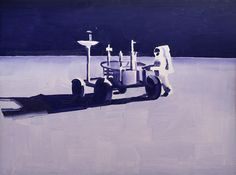Wilhelm Sasnal, Untitled (The Moon) 1999,  oil on canvas, 60x80x3, courtesy of the artist