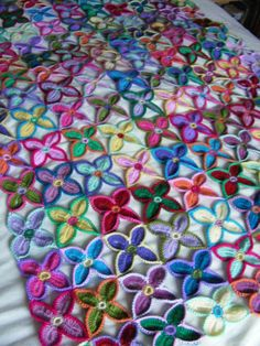 All 150 flowers as a finished blanket - at last:)